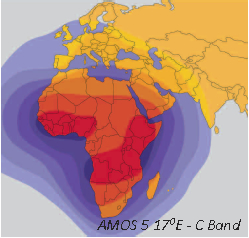 Amos 5 - C Band Satellite - At 17° East