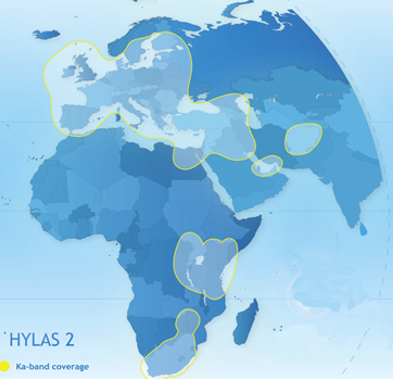 Hylas 2 Ka band Satellite - Hylas-2 at 31° East